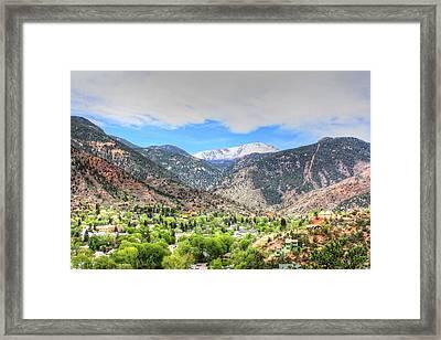 The Great White Shining Mountain Framed Print by Lanita Williams