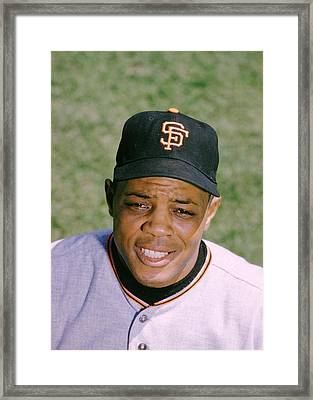 The Great Willie Mays Framed Print by Retro Images Archive