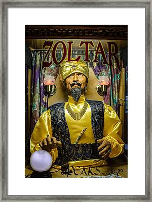 The Great Zoltar Framed Print by David Morefield