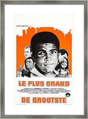 The Greatest, Belgian Poster Art Framed Print by Everett