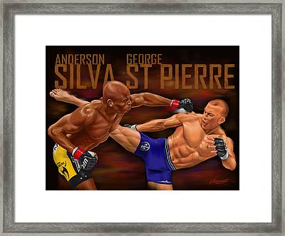 The Greatest Fight That Never Was Framed Print by Robert Villazante