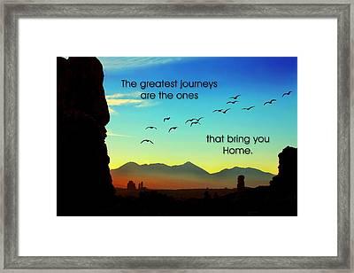 The Greatest Journeys Framed Print