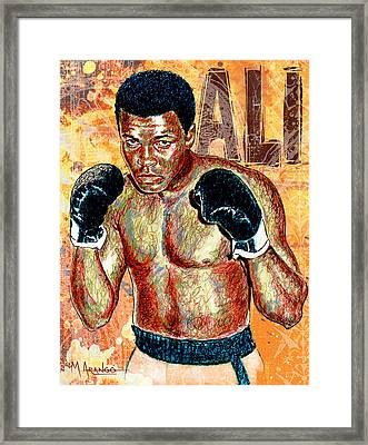 The Greatest Of All Time Framed Print by Maria Arango