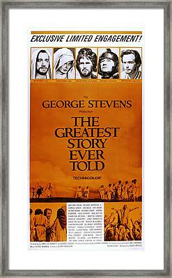 The Greatest Story Every Told, Us Framed Print