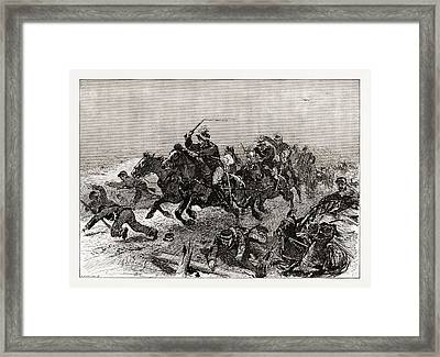 The Greek Rout An Incident Of The Stampede On The Road Framed Print by Litz Collection