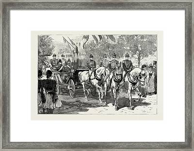 The Greek Royal Wedding, Arrival Of The Royal Party Framed Print