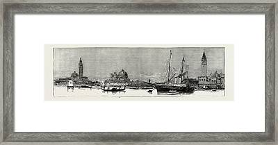The Greek Royal Wedding At Athens The Royal Yacht Osborne Framed Print by Litz Collection