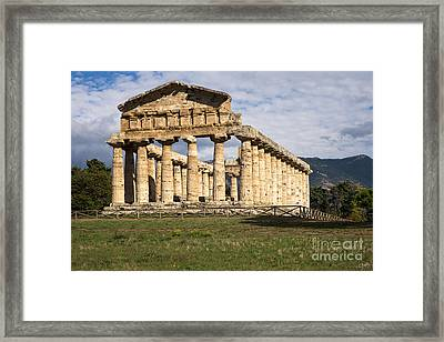 The Greek Temple Of Athena Framed Print