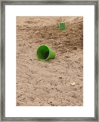 The Green Bucket Framed Print by Wendy Hall