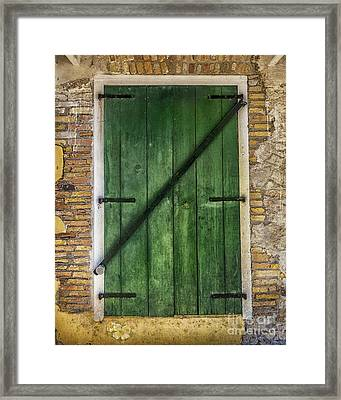 The Green Door Framed Print by Betty LaRue