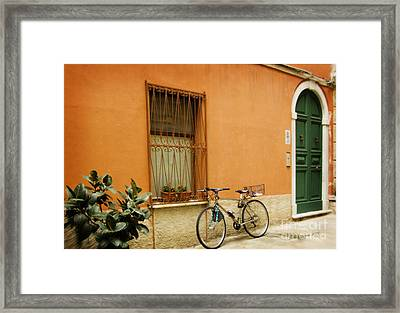 The Green Door Framed Print by Jim  Calarese