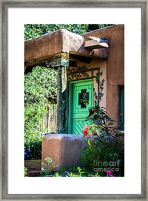 The Green Door Framed Print by Jim McCain