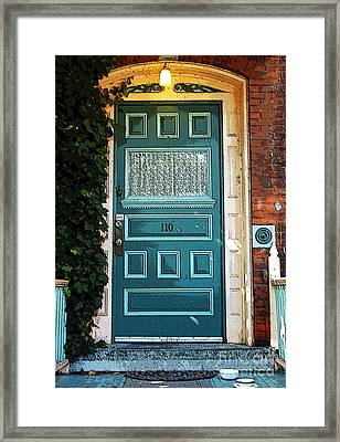The Green Door Framed Print by Kathleen Struckle