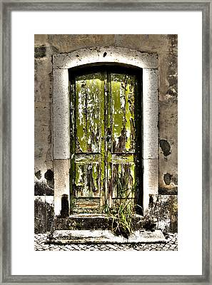 The Green Door Framed Print