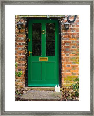 The Green Door Framed Print by Mark Llewellyn