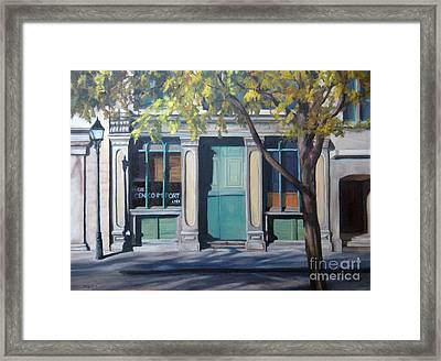 The Green Door  Old Montreal Framed Print by Rita-Anne Piquet