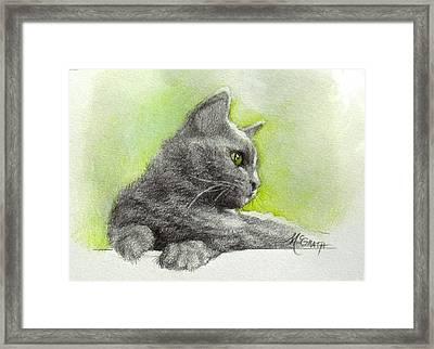 The Green Eye Framed Print by Janet McGrath