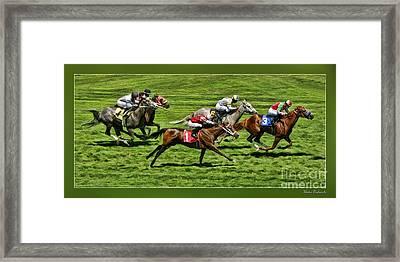 The Green Grass Run Framed Print