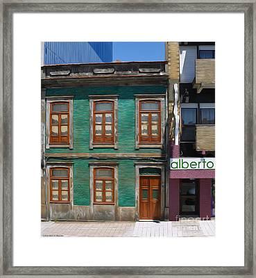 The Green House - Oporto Framed Print