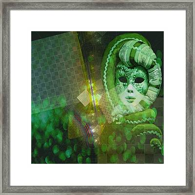 Framed Print featuring the digital art The Green Lady by Melissa Messick