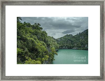 The Green Laguna Framed Print by Michelle Meenawong
