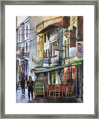 The Green Lights Of Agen Framed Print