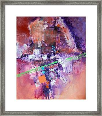 The Green Line Framed Print by Ron Stephens