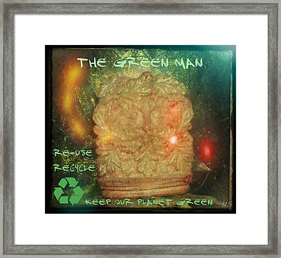 The Green Man - Recycle Framed Print by Absinthe Art By Michelle LeAnn Scott