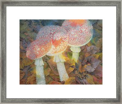 The Green Man With Stinkhorns Framed Print by Glyn Morgan