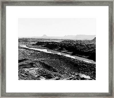 The Green River  Framed Print by Juls Adams