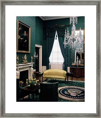 The Green Room In The White House Framed Print by Haanel Cassidy