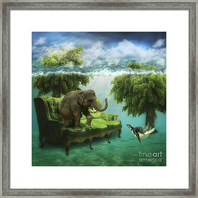 The Green Room Framed Print by Martine Roch