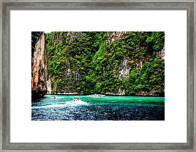 The Green Sea Framed Print