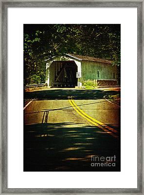 The Green Sergeants Covered Bridge Framed Print