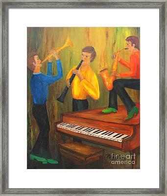 The Green Shoe Quartet Framed Print