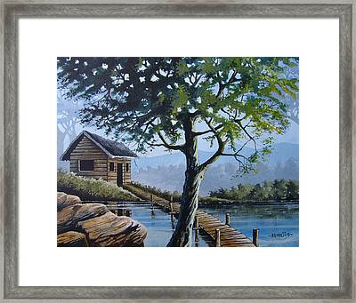 The Green Tree Framed Print