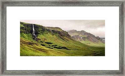 The Green Valley Framed Print by Florian Rodarte