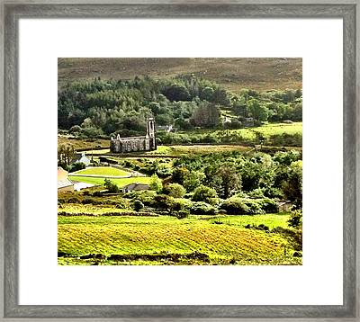 Framed Print featuring the photograph The Green Valley Of Poisoned Glen by Charlie and Norma Brock