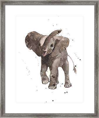 The Greeter Elephant Framed Print by Alison Fennell