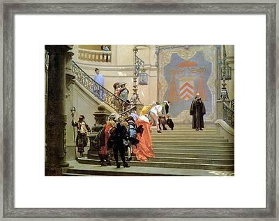 The Grey Cardinal Framed Print by Jean Leon Gerome