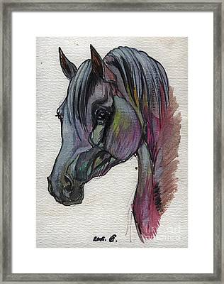 The Grey Horse Drawing 1 Framed Print