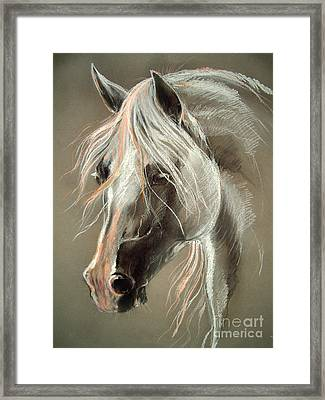 The Grey Horse Soft Pastel Framed Print