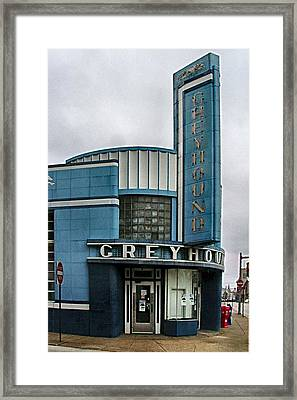 The Greyhound Bus Station Framed Print
