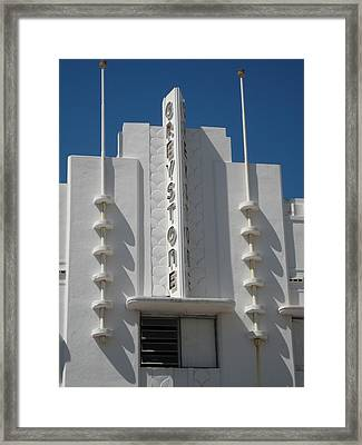 The Greystone - Miami Framed Print by Crow River North Photography