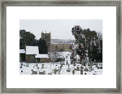 Framed Print featuring the digital art The Grim Reaper by Ron Harpham