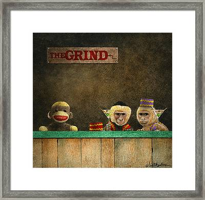 The Grind Framed Print by Will Bullas