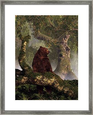 The Grizzly's Forest Framed Print by Daniel Eskridge