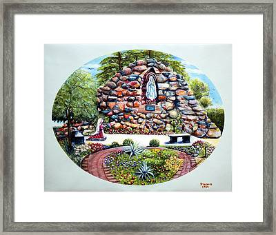 Framed Print featuring the painting The Grotto by Bernadette Krupa