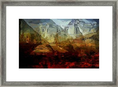 The Ground Could Not Soak It Up Framed Print by Gun Legler