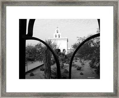 The Grounds Of San Xavier Framed Print